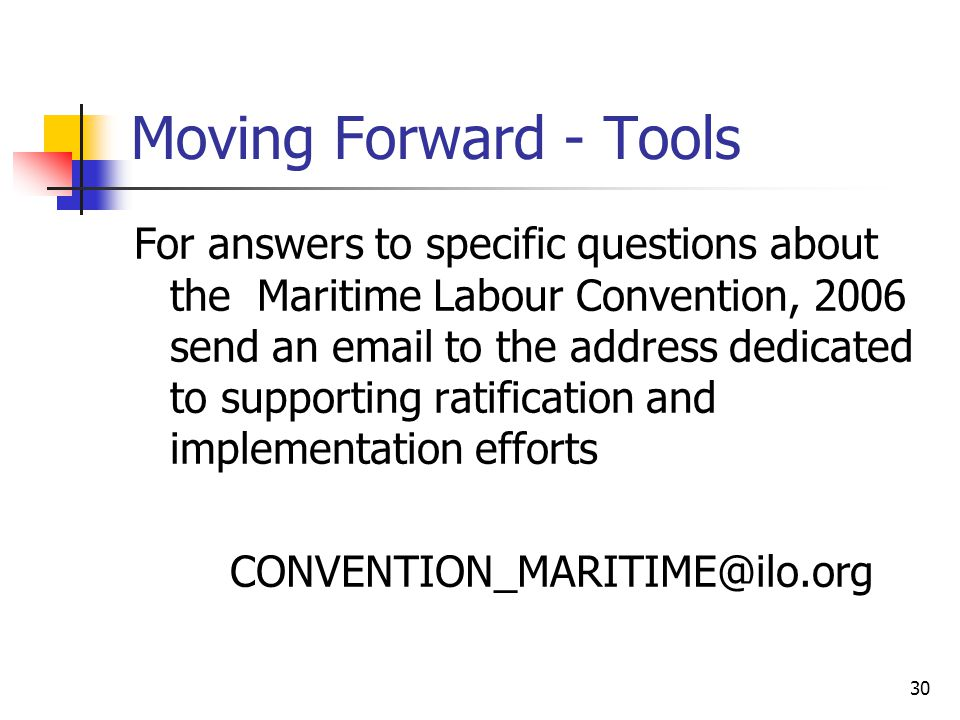 Moving Forward - Tools