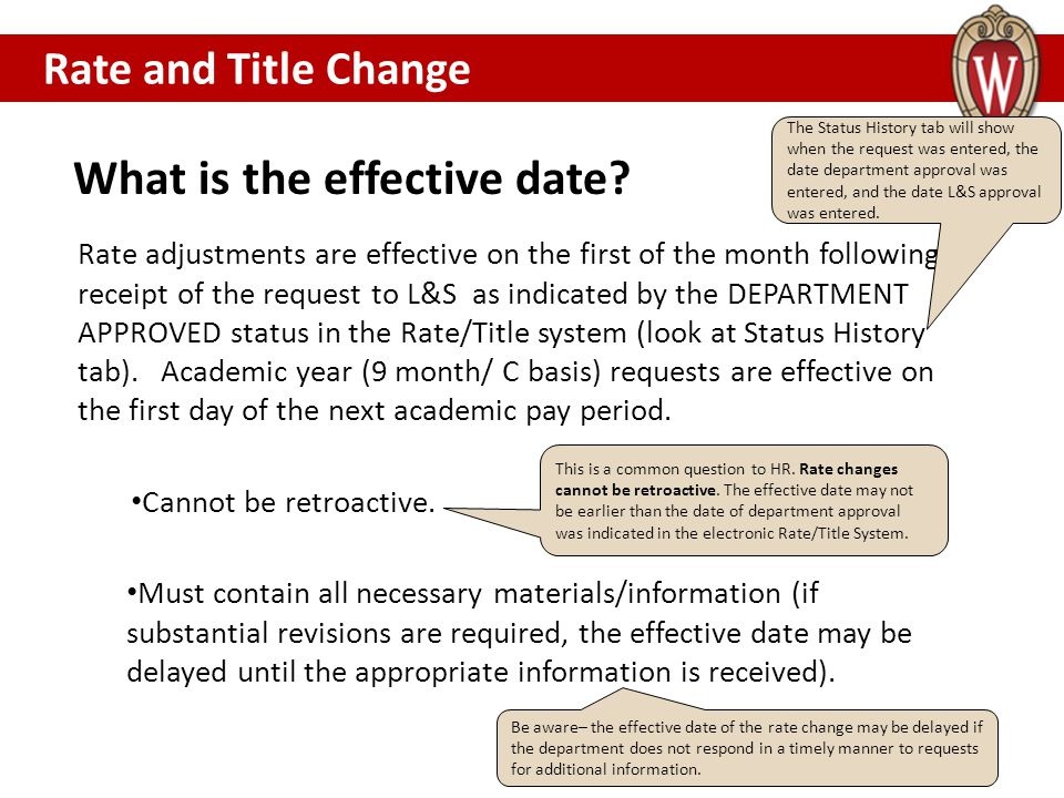 What is the effective date