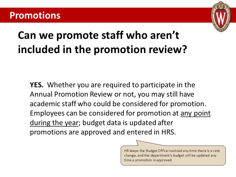 Can we promote staff who aren't included in the promotion review