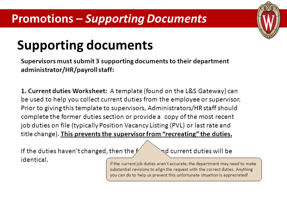Supporting documents Promotions – Supporting Documents PROMOTIONS