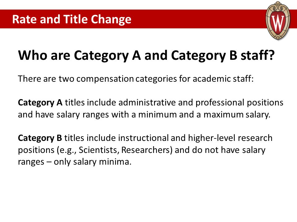 Who are Category A and Category B staff