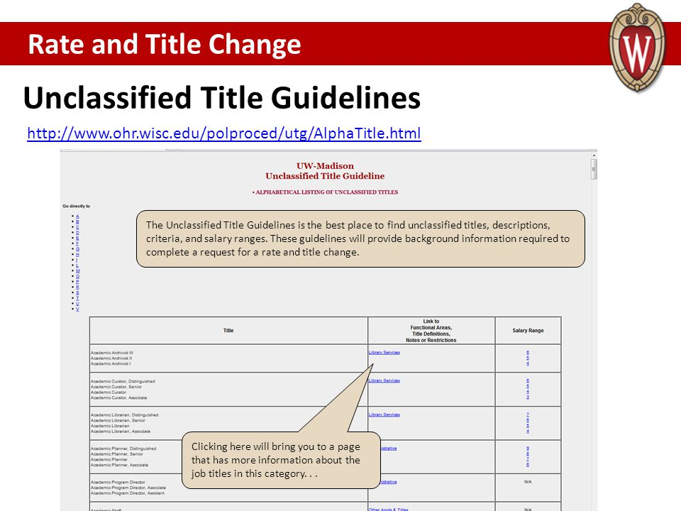 Unclassified Title Guidelines