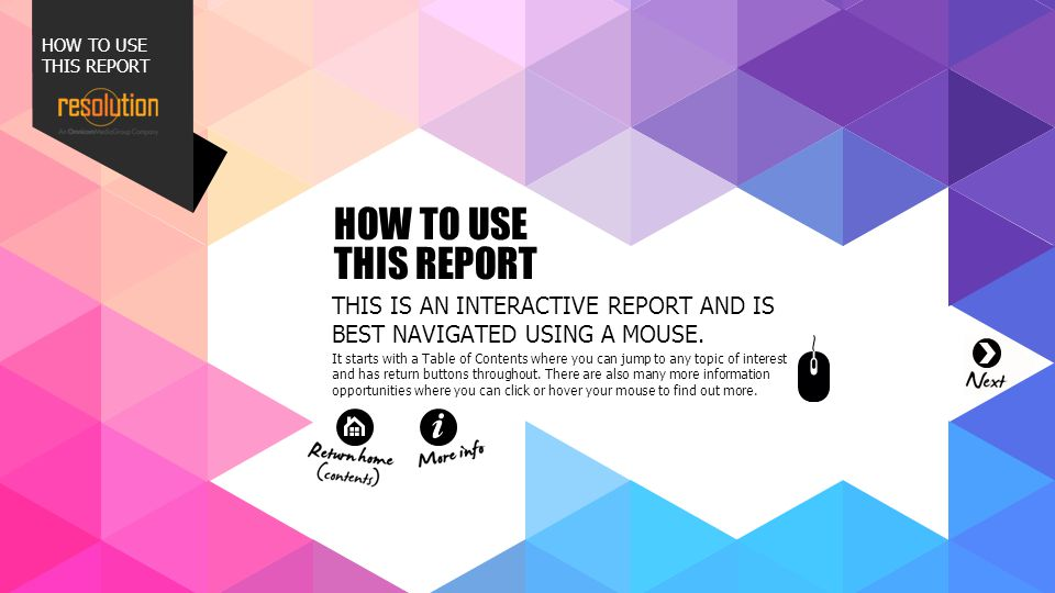 HOW TO USE THIS REPORT 001. 002. 003. 004. 007. 011. 012. 013. 014. HOW TO USE THIS REPORT.