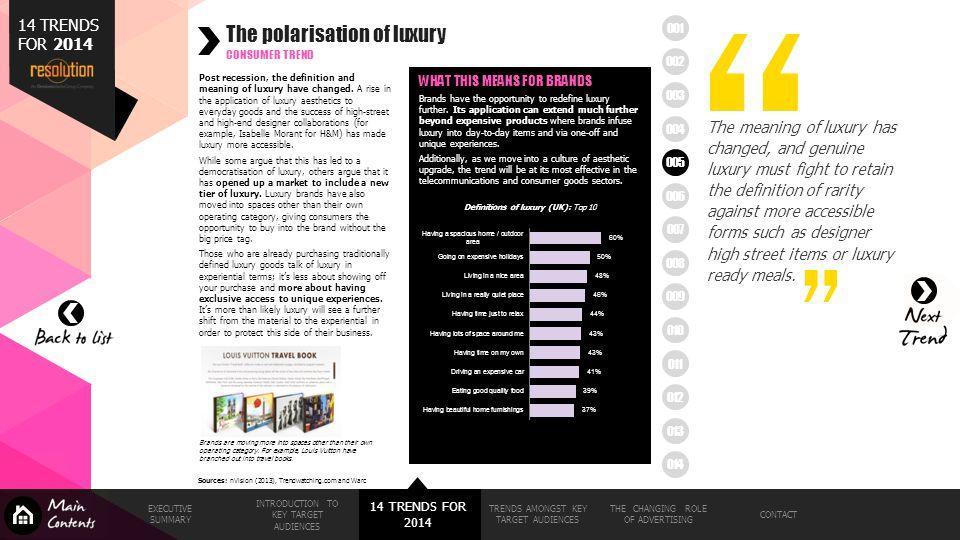 The polarisation of luxury