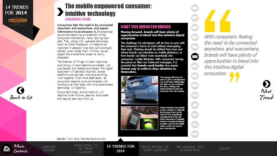 The mobile empowered consumer: intuitive technology
