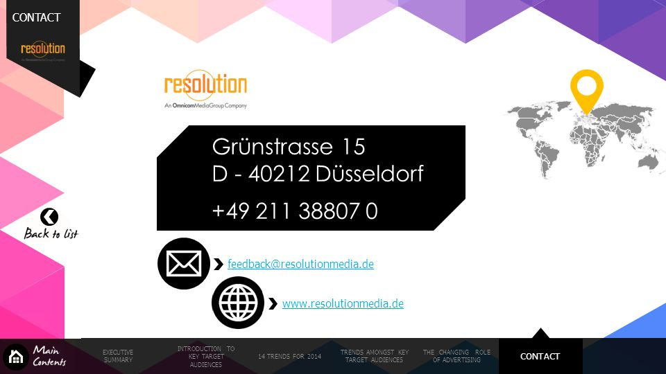 Grünstrasse 15 D - 40212 Düsseldorf +49 211 38807 0 CONTACT