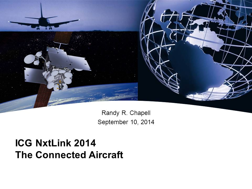 ICG NxtLink 2014 The Connected Aircraft