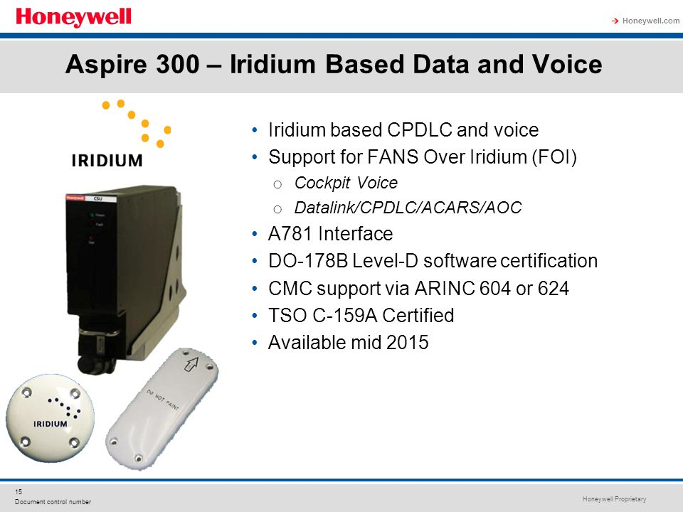 Aspire 300 – Iridium Based Data and Voice