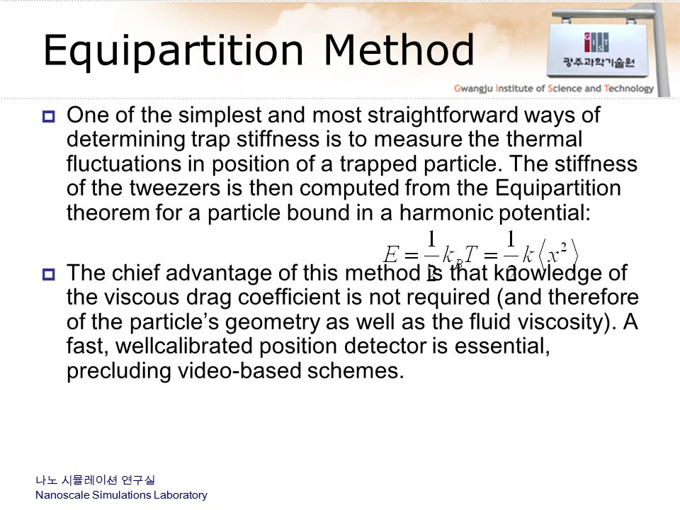 Equipartition Method