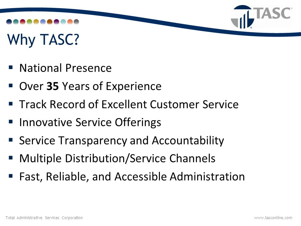 Why TASC National Presence Over 35 Years of Experience
