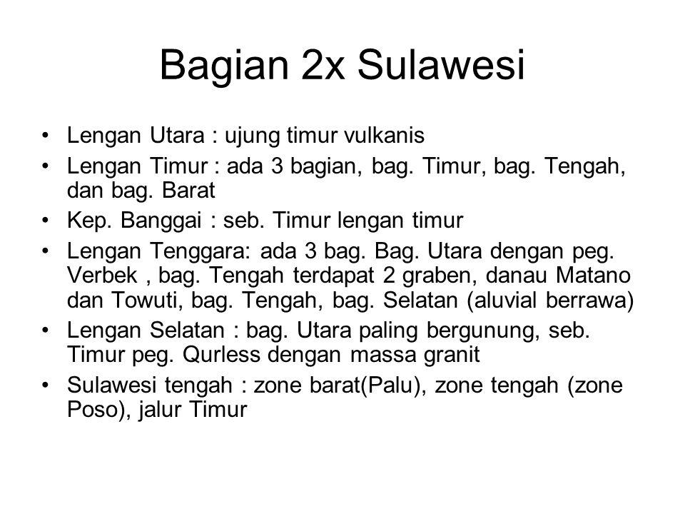 Bagian 2x Sulawesi Lengan Utara : ujung timur vulkanis