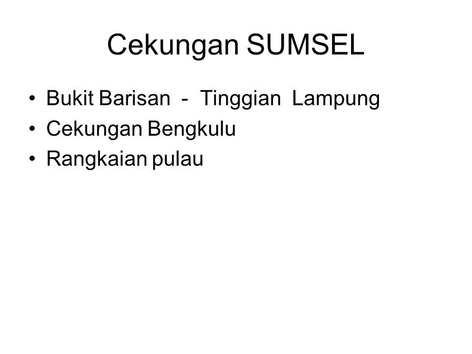 Cekungan SUMSEL Bukit Barisan - Tinggian Lampung Cekungan Bengkulu