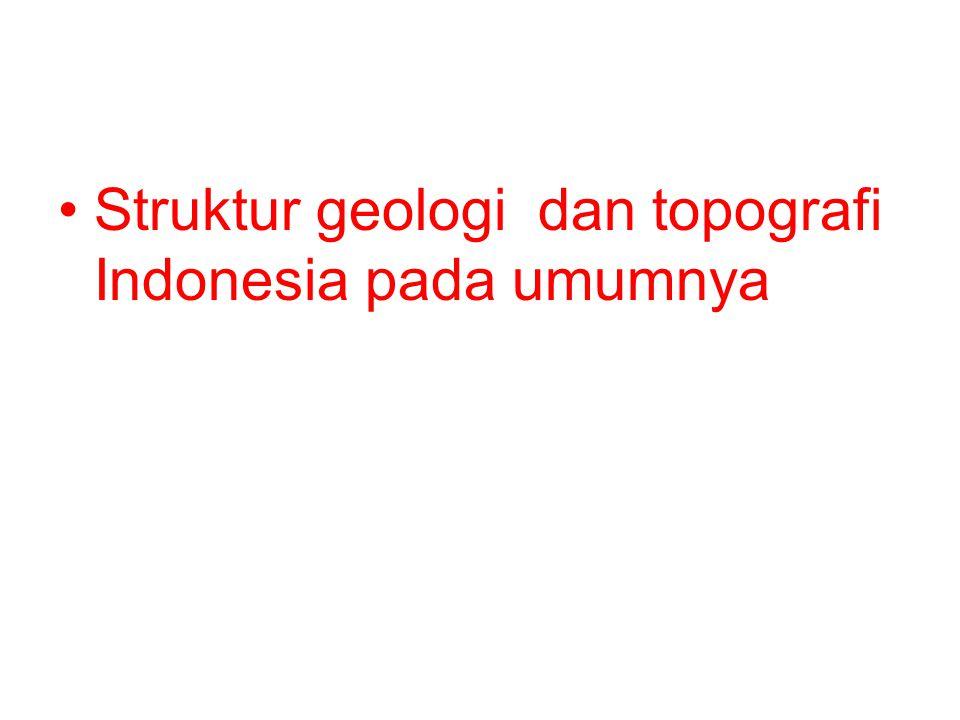 Struktur geologi dan topografi Indonesia pada umumnya