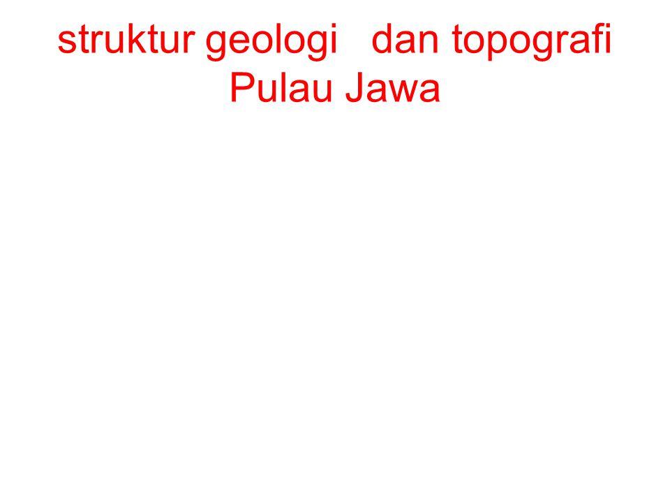 struktur geologi dan topografi Pulau Jawa