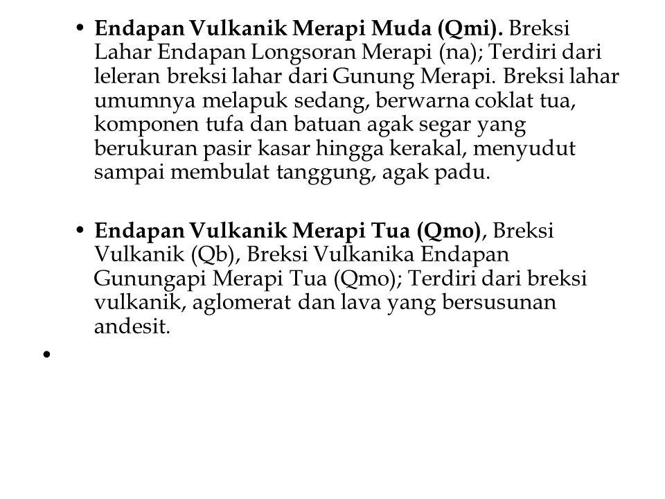 Endapan Vulkanik Merapi Muda (Qmi)
