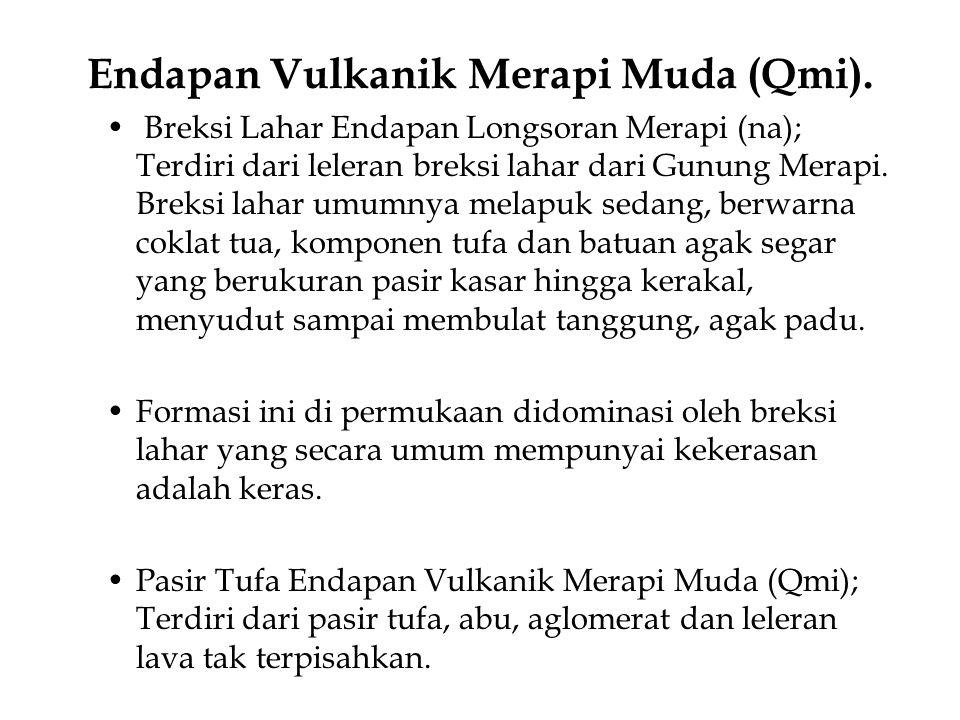 Endapan Vulkanik Merapi Muda (Qmi).