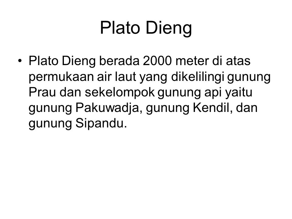 Plato Dieng