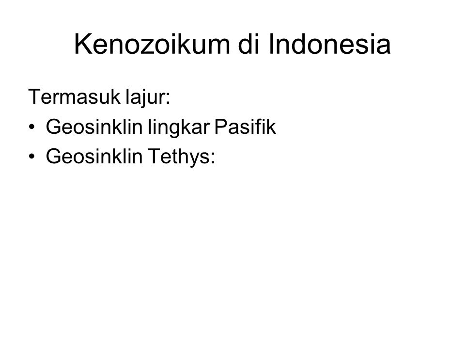 Kenozoikum di Indonesia