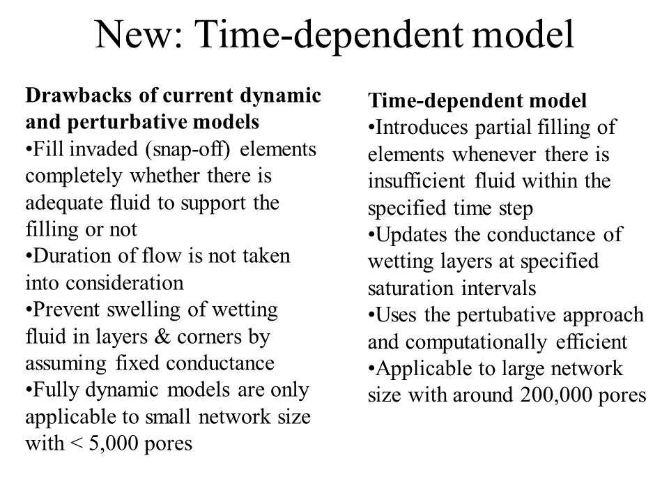 New: Time-dependent model