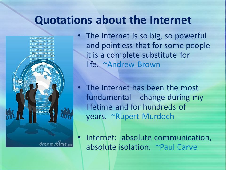 Quotations about the Internet