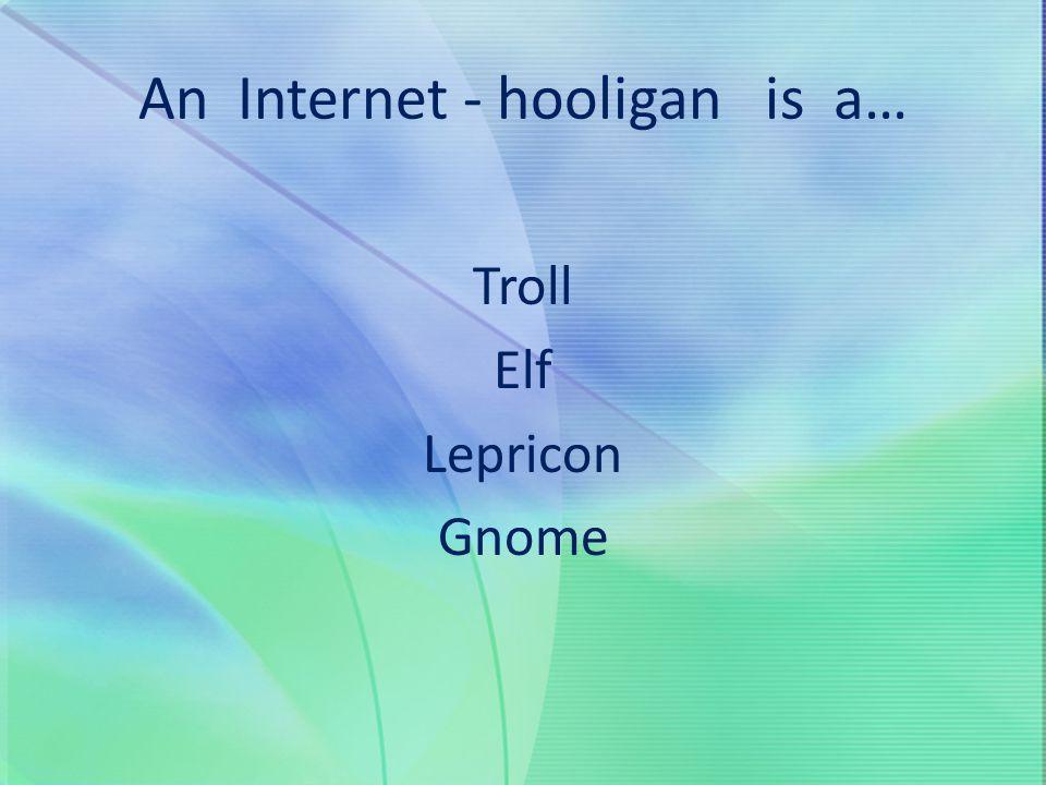 An Internet - hooligan is a…