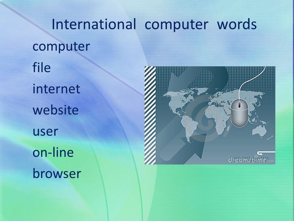 International computer words
