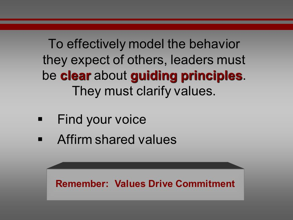 Remember: Values Drive Commitment