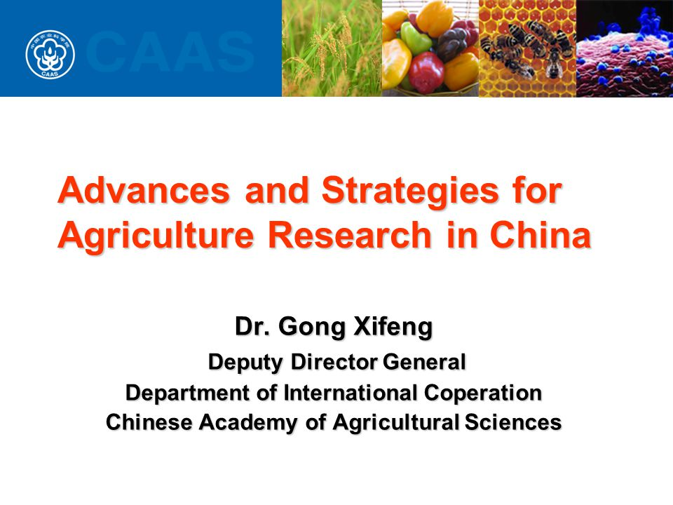 Advances and Strategies for Agriculture Research in China