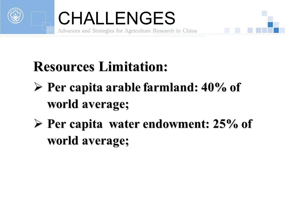CHALLENGES Resources Limitation: