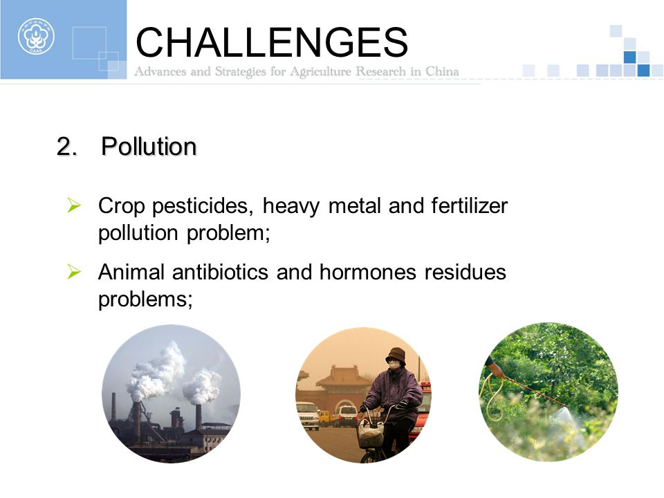 CHALLENGES Pollution.