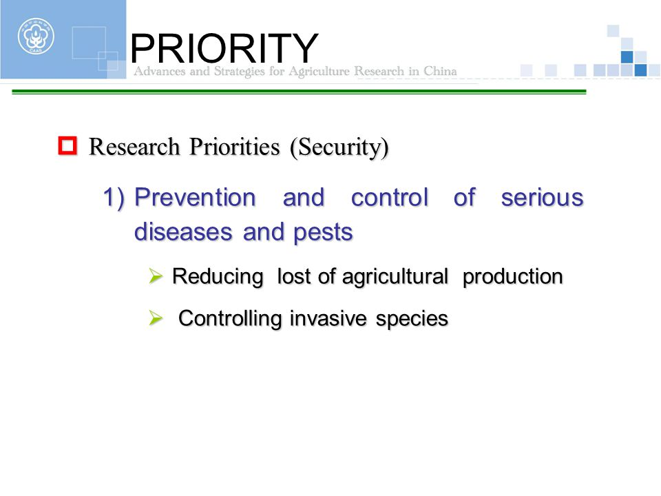 PRIORITY Research Priorities (Security)