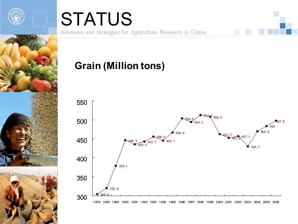 STATUS Grain (Million tons)