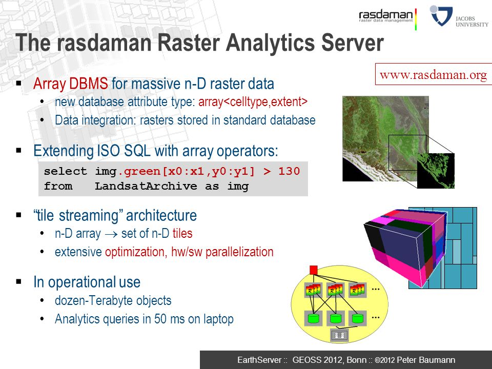 The rasdaman Raster Analytics Server