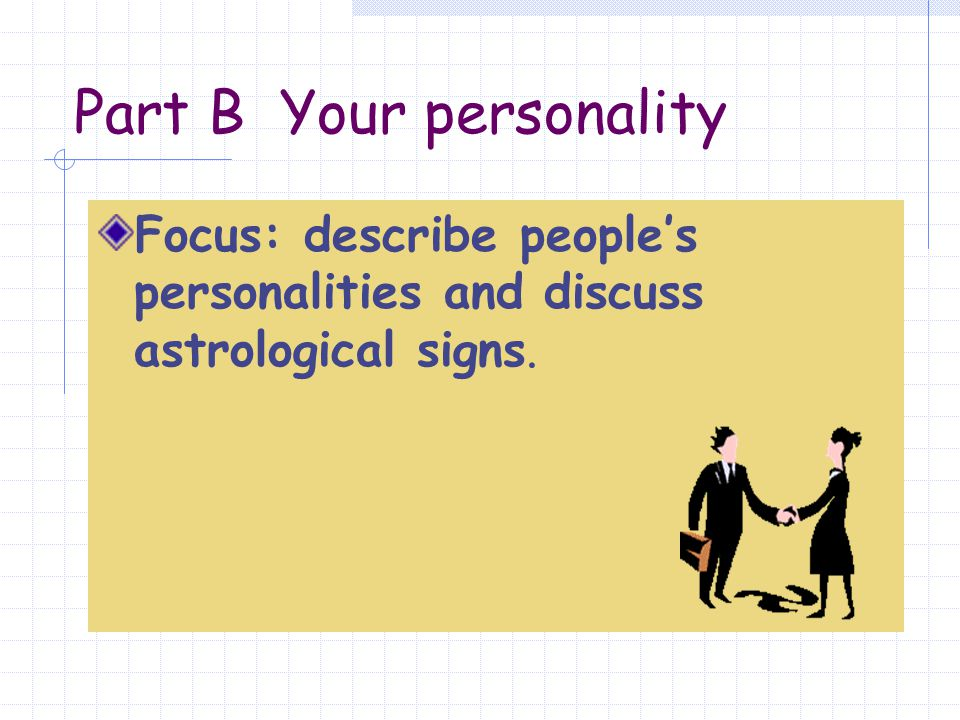Part B Your personality
