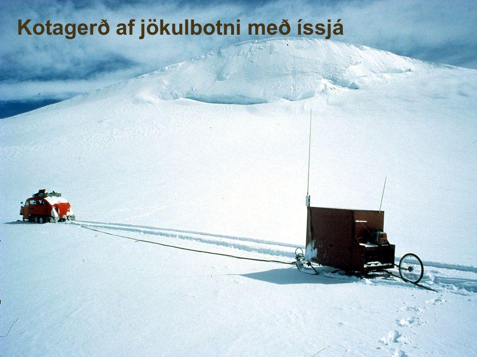 Kotagerð af jökulbotni með íssjá