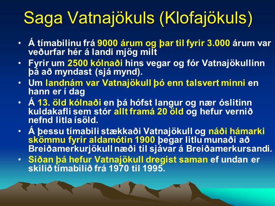 Saga Vatnajökuls (Klofajökuls)
