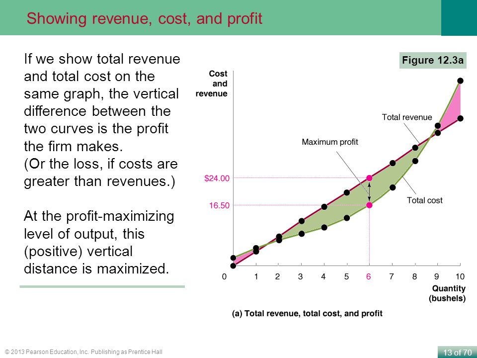 Showing revenue, cost, and profit