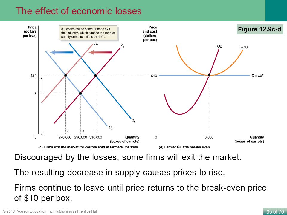 The effect of economic losses