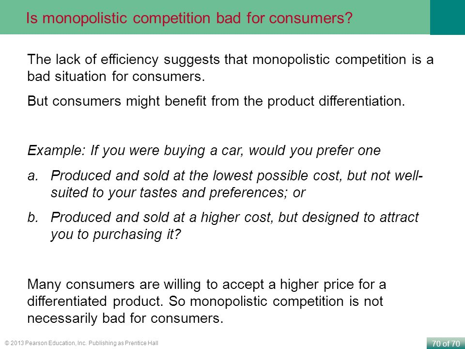 Is monopolistic competition bad for consumers