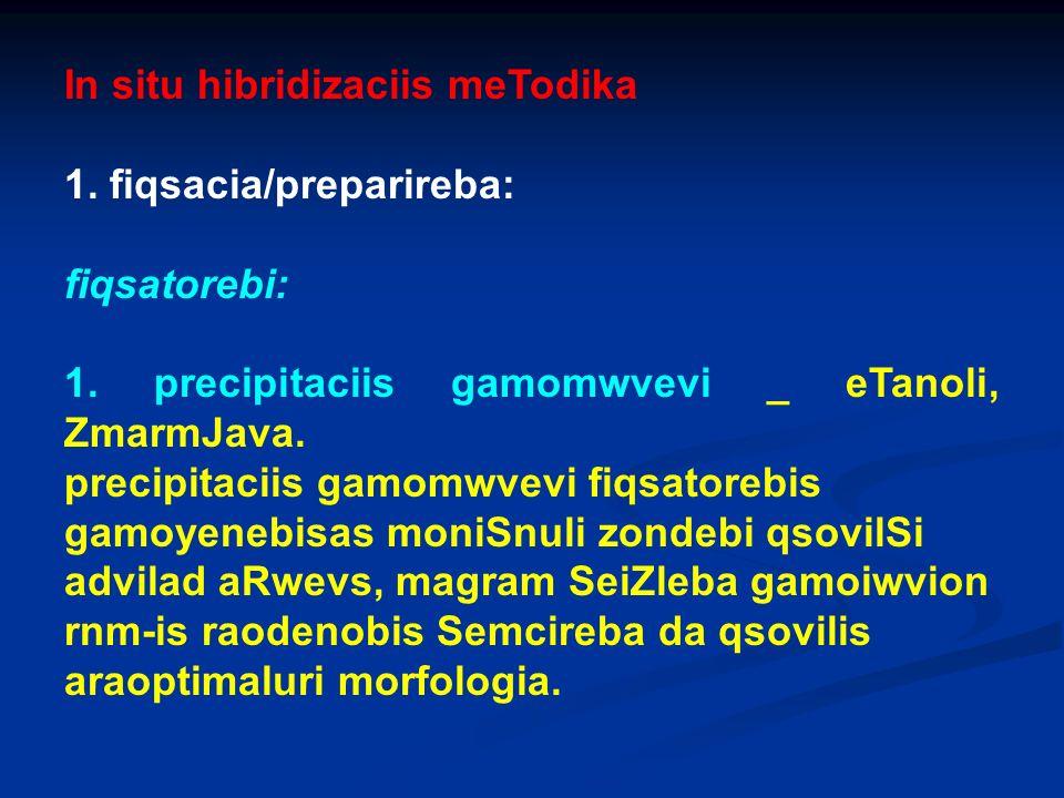 In situ hibridizaciis meTodika