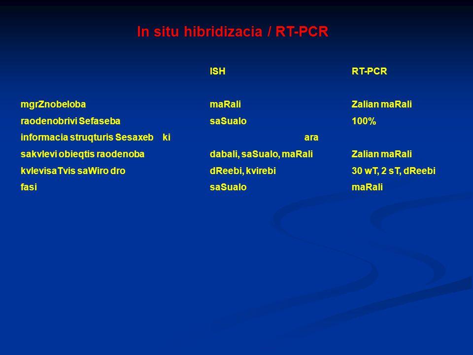 In situ hibridizacia / RT-PCR