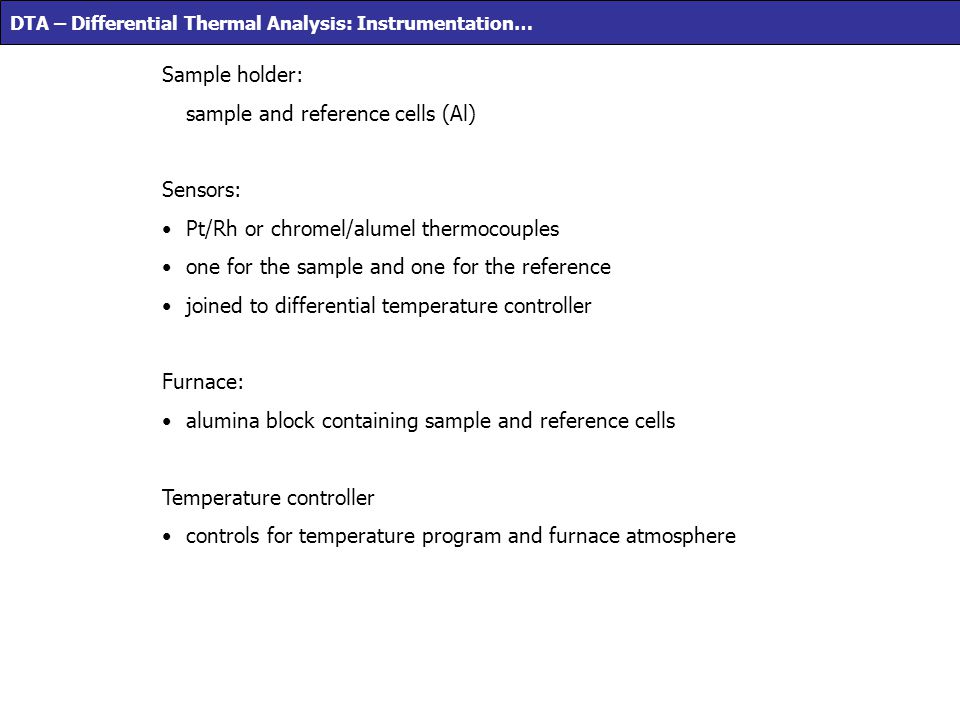 sample and reference cells (Al)