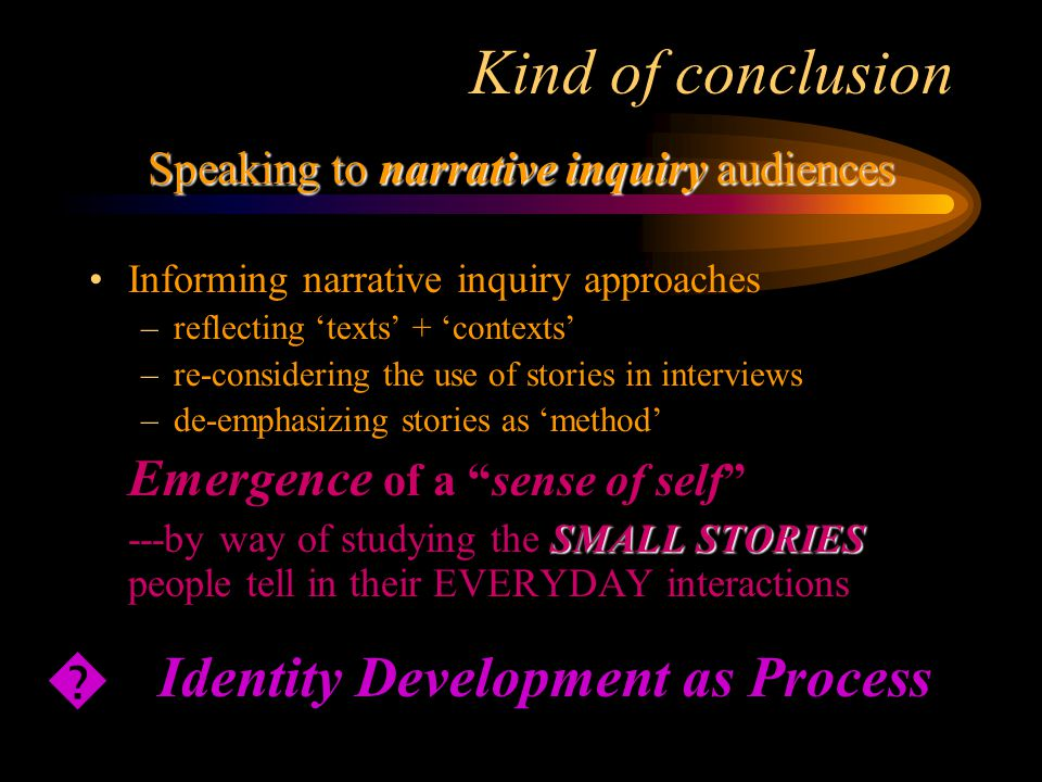 Speaking to narrative inquiry audiences