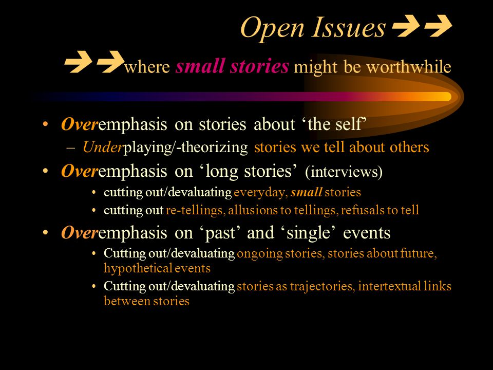 Open Issues where small stories might be worthwhile