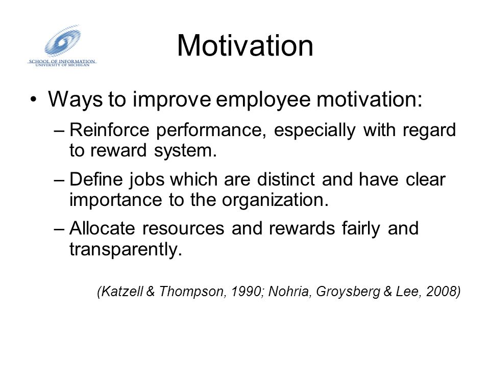Best way to increase work motivation is through employee reward schemes