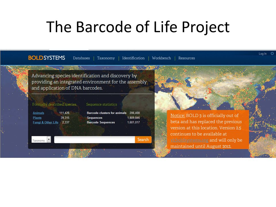 The Barcode of Life Project