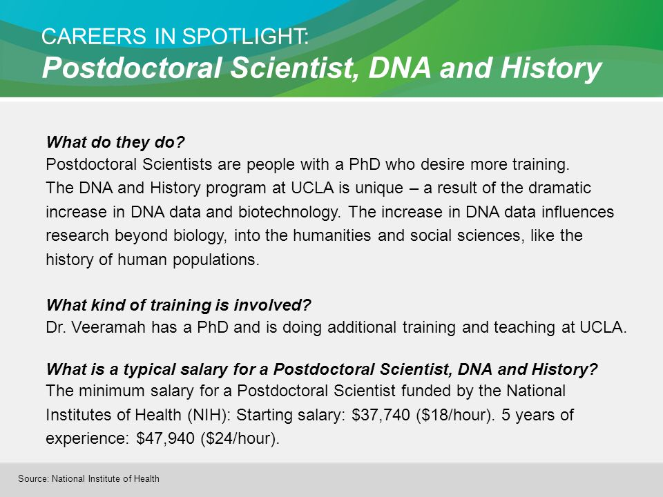CAREERS IN SPOTLIGHT: Postdoctoral Scientist, DNA and History