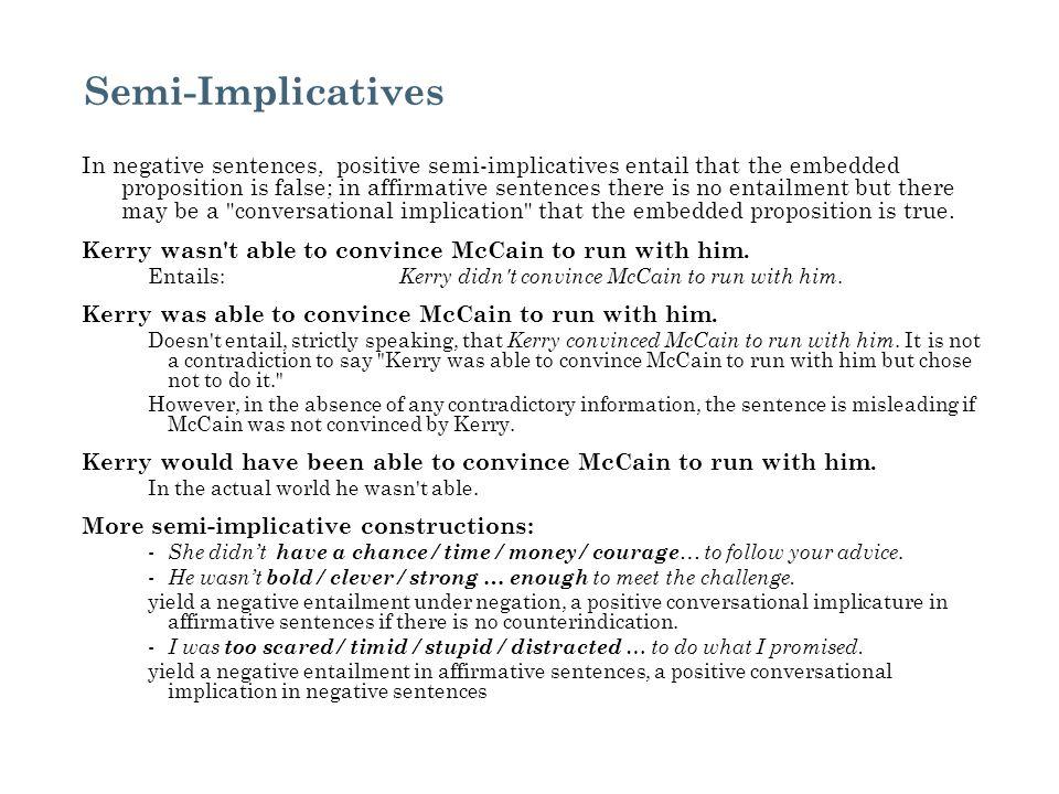 Semi-Implicatives