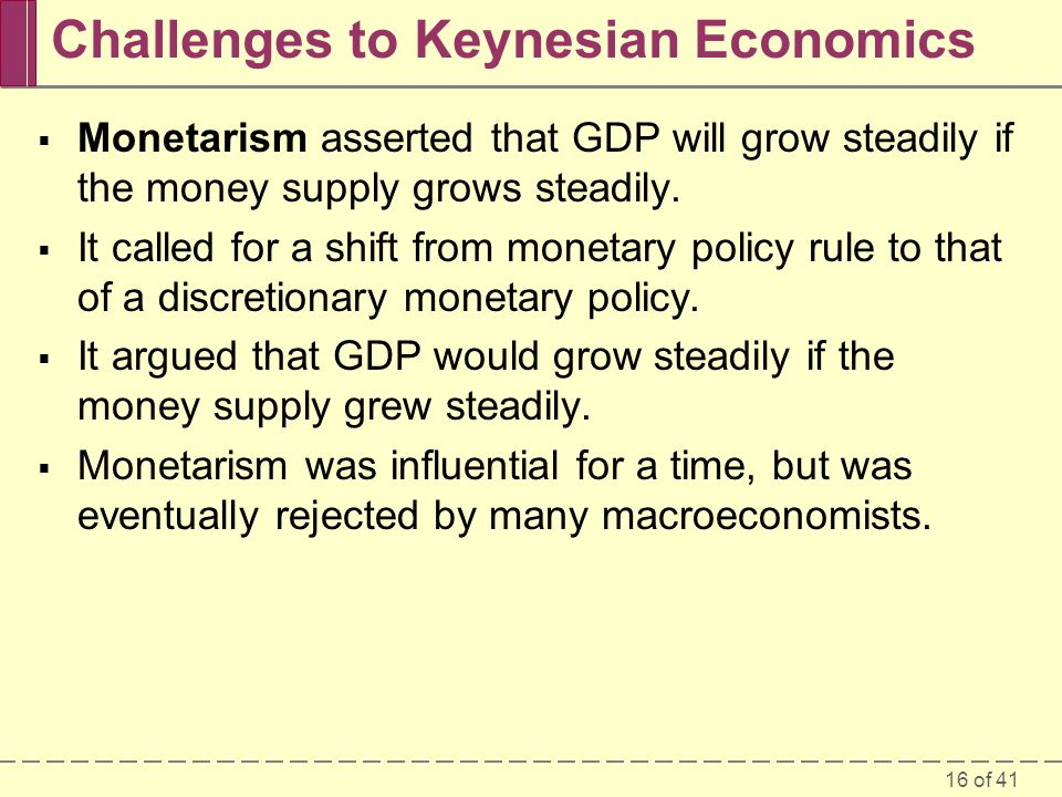 Challenges to Keynesian Economics