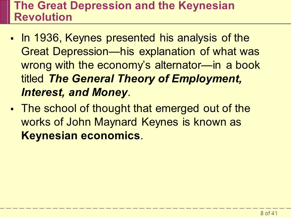 The Great Depression and the Keynesian Revolution